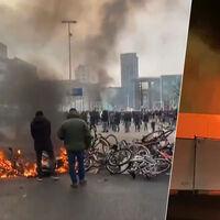 Disturbios y centros de PCR en llamas: las protestas anticonfinamiento saltan de nivel en Países Bajos
