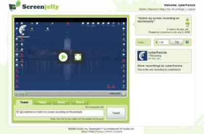 Screenjelly, crea y difunde fácilmente tus screencasts