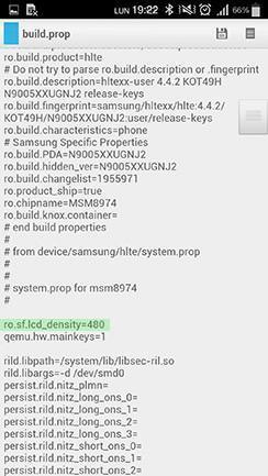Dpi Buildprop