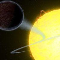 Este planeta es más negro que el asfalto