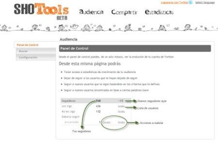 SHOTools, herramientas para organizar nuestros contactos en Twitter