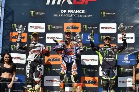 Podio Mx2 Francia