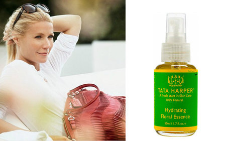 Gwyneth Paltrow usa el Hydrating Floral Essence de Tata Harper, un tratamiento facial en spray
