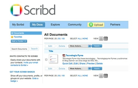Scribd, el Youtube para documentos