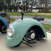 Esta minimoto retro se llama Volkspod y está creada con trozos del mítico Volkswagen Beetle