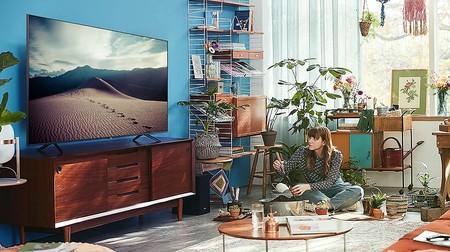 """El televisor Samsung Crystal UHD 2020 55TU8005 de 55"""" con aplicación Apple TV está rebajado en Amazon 593,99 euros"""