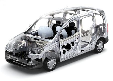 Peugeot Partner eléctrica - estructura