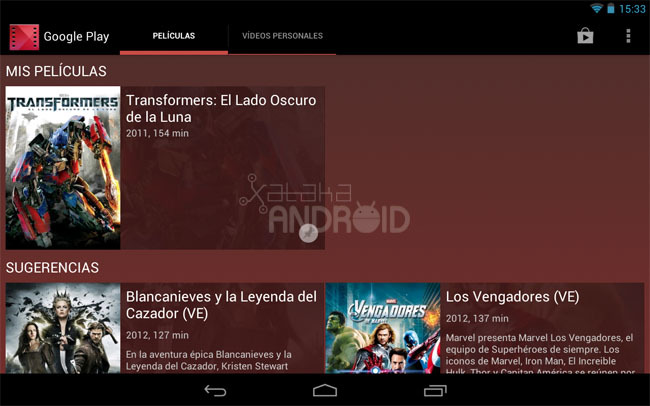 Google Play Moviles para tablets Android
