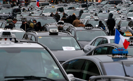 Taxistas Huelga France
