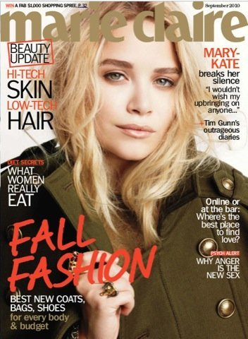 Mary-Kate Olsen portada Marie Claire militar