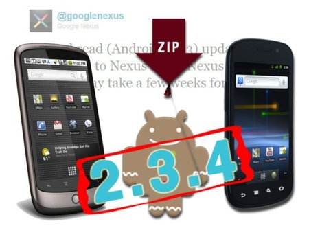 La actualización OTA de Android 2.3.4 Gingerbread para Nexus S y Nexus One ya está disponible