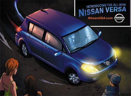 Heroes y el Nissan Versa