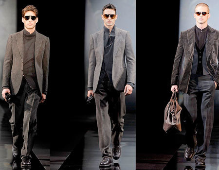 Giorgio Armani en la Semana de la Moda de Milán Masculina
