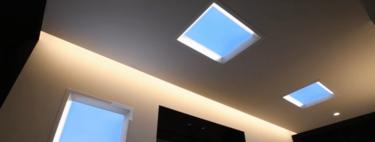 Mitsubishi ha fabricado unas ventanas falsas a principios de LEDs para imitar la luz del Sol