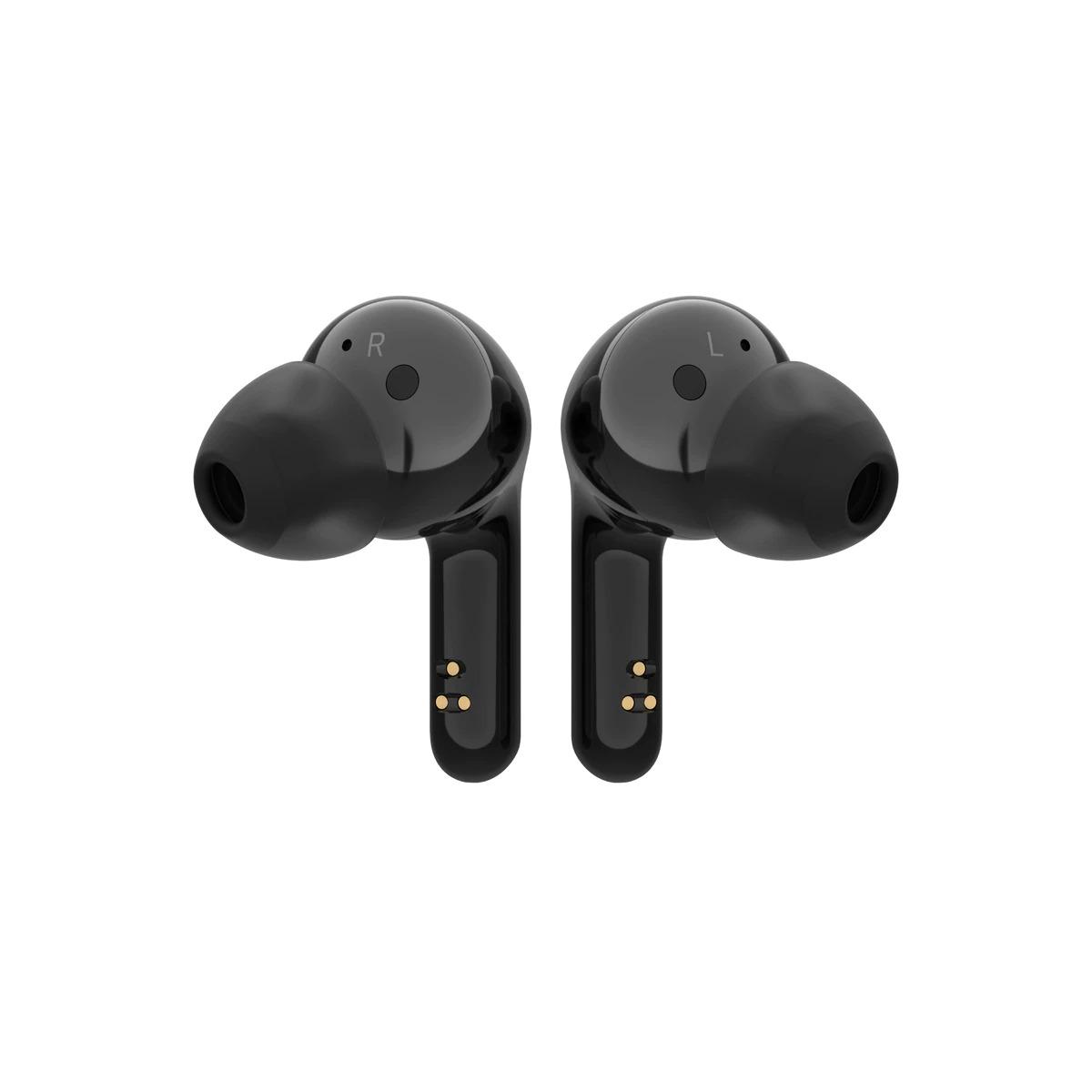 Auriculares de botón LG Tone Free HBS-FN4-B True Wireless, sonido Meridian, negros