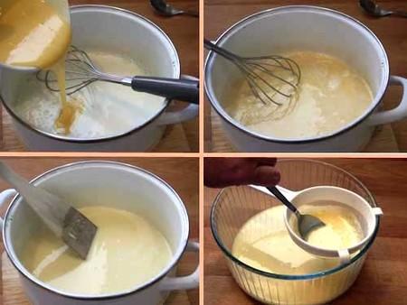 Flan de huevo, elaboración de la crema