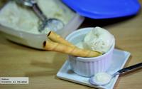 Receta rápida de helado casero de horchata y yogur
