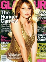 Jennifer Lawrence, una lolita inocente y picarona en la portada de Glamour