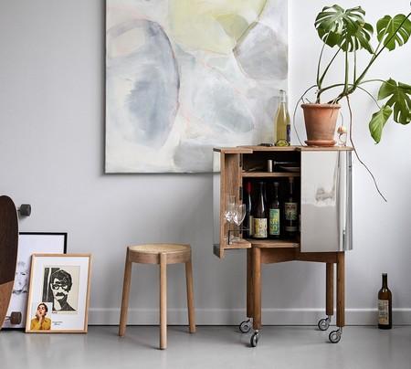 Un capricho de diseño; mucha dosis de diseño atemporal en este carrito mueble bar de Nothern