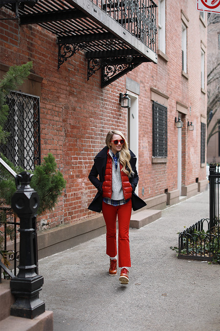 chaleco acolchado street style