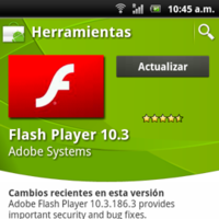 Actualización crítica de seguridad en Flash Player 10.3 para Android