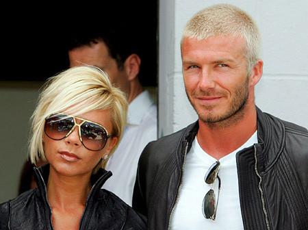 David y Victoria Beckham en Silverstone