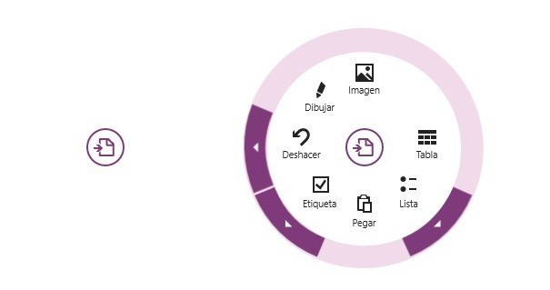 Controles de OneNote para Windows 8