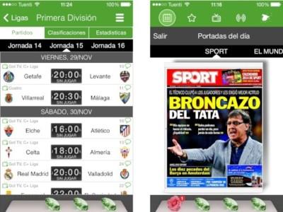 Resultados de Fútbol, una aplicación para estar informado de cualquier dato sobre las ligas europeas