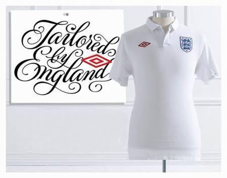 La camiseta de Inglaterra, sastrería inglesa a medida para futbolistas