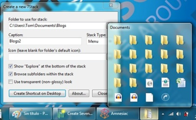 7stacks, otra alternativa para tener los stacks de Leopard en Windows 7