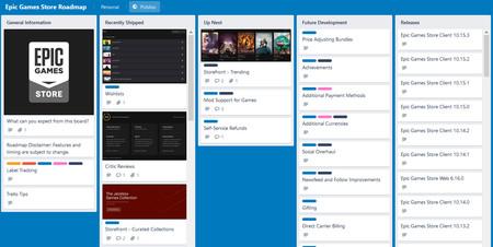 Epic Games Store Trello Roadmap