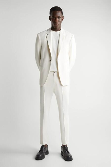 Traje Blanco Zara