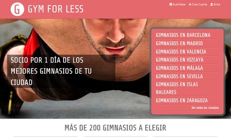 ¿Buscas un gimnasio al que ir de forma puntual? Resuelto con GymForLess