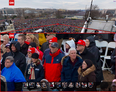 Una foto de miles de megapíxeles para que no te pierdas detalle del acto de investidura de Trump