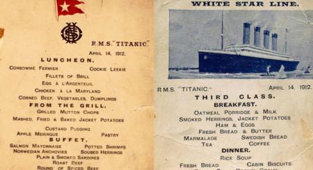 Descubre los menús que se ofrecieron en el Titanic hace 100 años