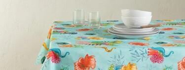 Marineros, tropicales, geométricos... Los mejores manteles para poner mesas bonitas en la terraza