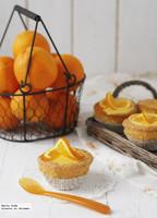Cupcakes de almendra con glaseado de naranja. Receta