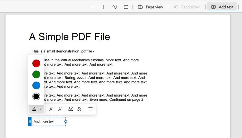 Edge sigue mejorando su visor de PDFs convirtiéndolo también en editor: ahora podremos insertar textos en nuestros documentos