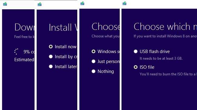 Asistente de instalación de Windows 8