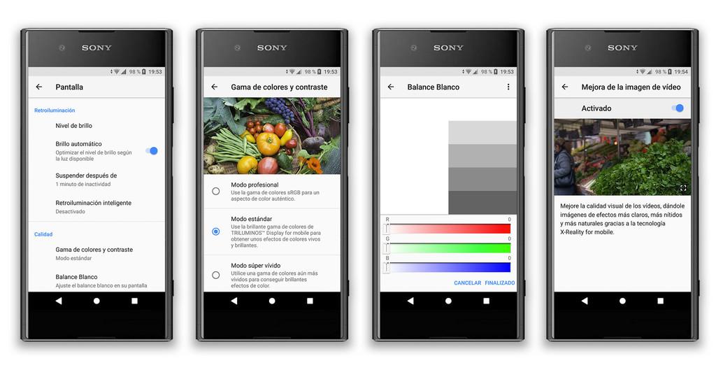 Sony Xperia Xz1 Ajustes Pantalla