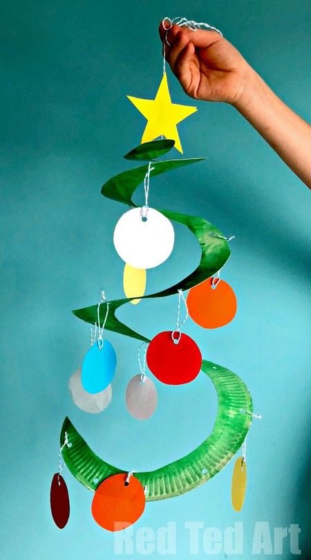 Manualidades Navidad Arbol Colgante