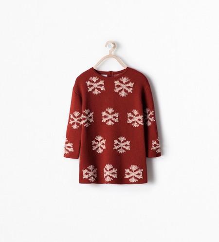 Vestido Copos Nieve Zara