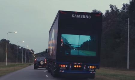 Samsung Safety Truck, ver a través de la caja de un tráiler disminuirá los accidentes viales