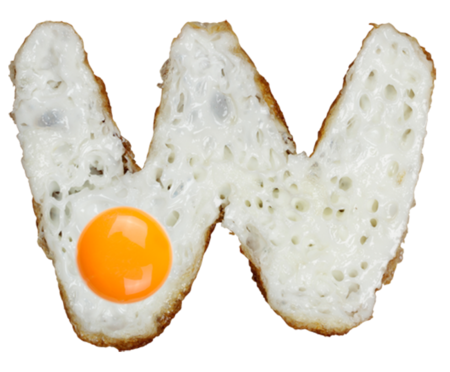 Letra W Egg Font