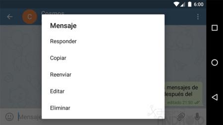 Telegram para Android ahora te permite editar tus mensajes enviados