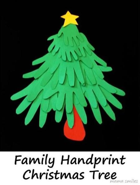 Manualidades Navidad Arbol Manos