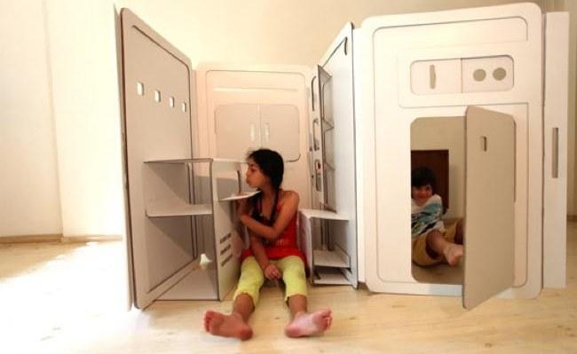 Casas de juguete plegables para ni os 2 5 - Casas para ninos de carton ...