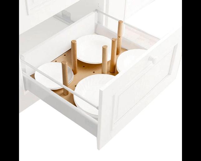 Cajón cacerolero para mueble de cocinas de madera haya 60 x 35 cm