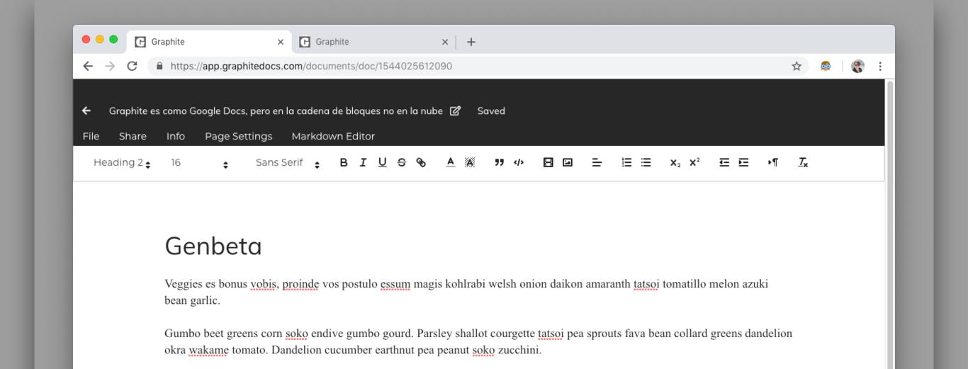 Graphite, una alternativa a Google Docs descentralizada