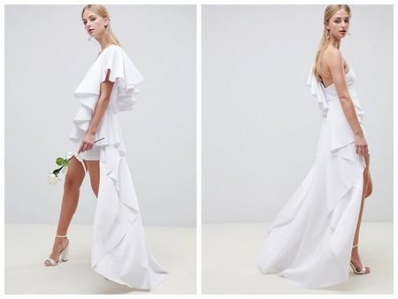 Vestido Novia Low Cost Asos Corto